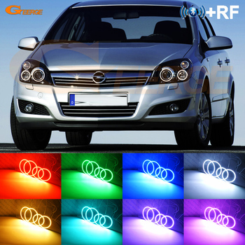 Excellent RF remote Bluetooth App Multi-Color RGB LED Angel Eyes Halo Ring kit For Opel Astra H 2004-2010 Xenon headlight