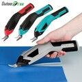 Elektrische schere Cordless/stoff/Leder/Tuch Nähen hand legierung doppel kopf schneiden multi funktionale elektrische cuttingTool