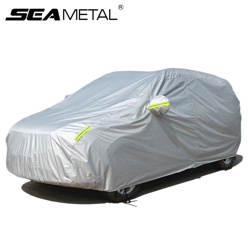 Exterior Car Cover Waterproof Protection Sedan SUV Covers Sun Shade Reflective Strips Anti UV Rain Snow Dust Auto Accessories