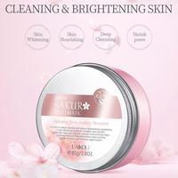 LAIKOU Japan Sakura Clay Mask Deep Cleansing Whitening Repair Skin Mud Korean Face Mask Oil Control Shrink Pores Skin Care Masks 2