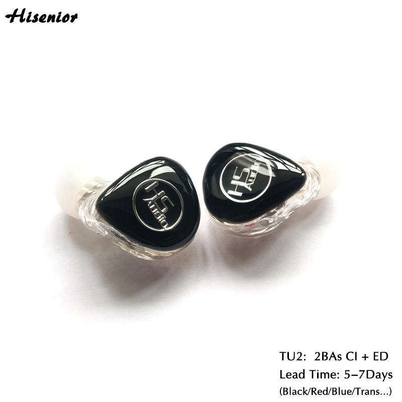 U2 Mini In Ear Monitor Earphone for Phone MMCX connector with Knowles 2BAs CI ED and 1.2M Detachable Cable