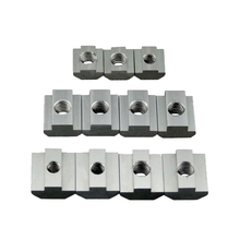 2020 3030 4040 T Block Square nuts T-Track Sliding Hammer Nut M3 M4 M5 M6 for Fastener Aluminum Profile 10pcs m4 m5 m6 m8 half round elasticity spring nut block for 3030 2020 4040
