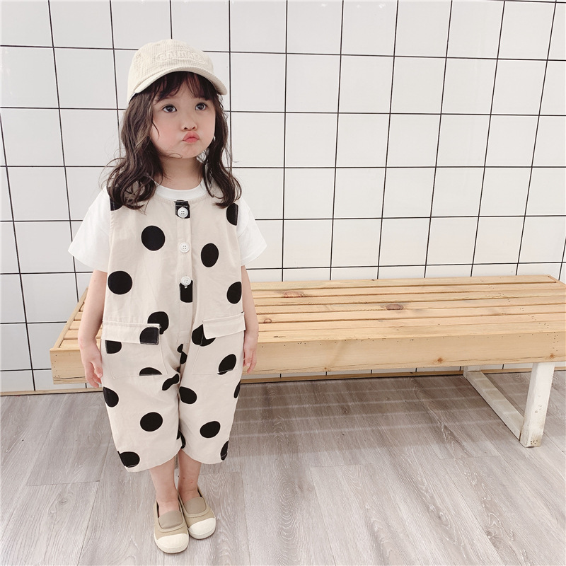 Baby 39 s Westernized Belt Trousers Children 39 s Point Trousers 2019 Spring and Autumn Children 39 s Belt Pants 9 Sub pants in Overalls from Mother amp Kids