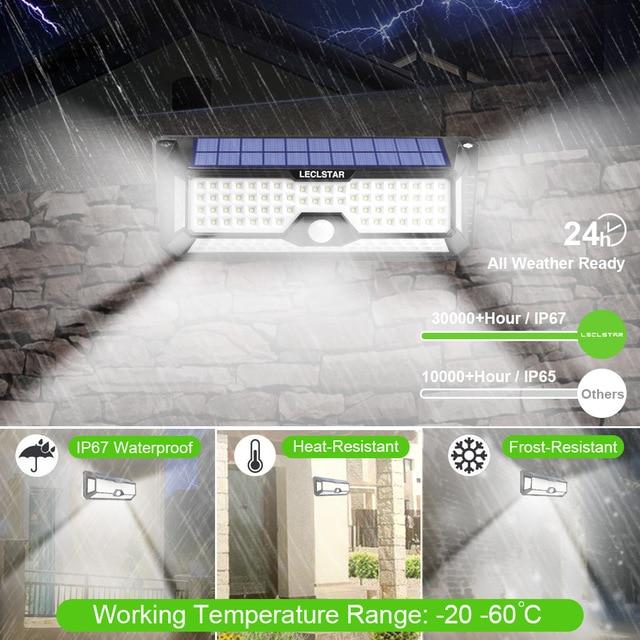 Outdoor Lighting Solar Motion Sensor Light Bulb 268 LED Solar Power Lamp Waterproof for Garden Decoration Street Security Lights 5