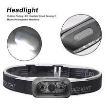 цена на COB LED Headlight Headlamp Head Lamp Flashlight USB Rechargeable Torch Camping Hiking Night Fishing Light