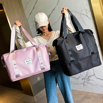 New Travel Bag Organizer Fashion Carry On Hand Luggage For Woman Waterproof Sports Gym Fitness Bag Crossbody Shoulder Pack 2021 1