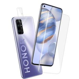 Защитная пленка для экрана из закаленного стекла для Huawei P40/P30/P20 Lite и Honor 30/20 Pro Полное покрытие 2 в 1 Передняя и камера