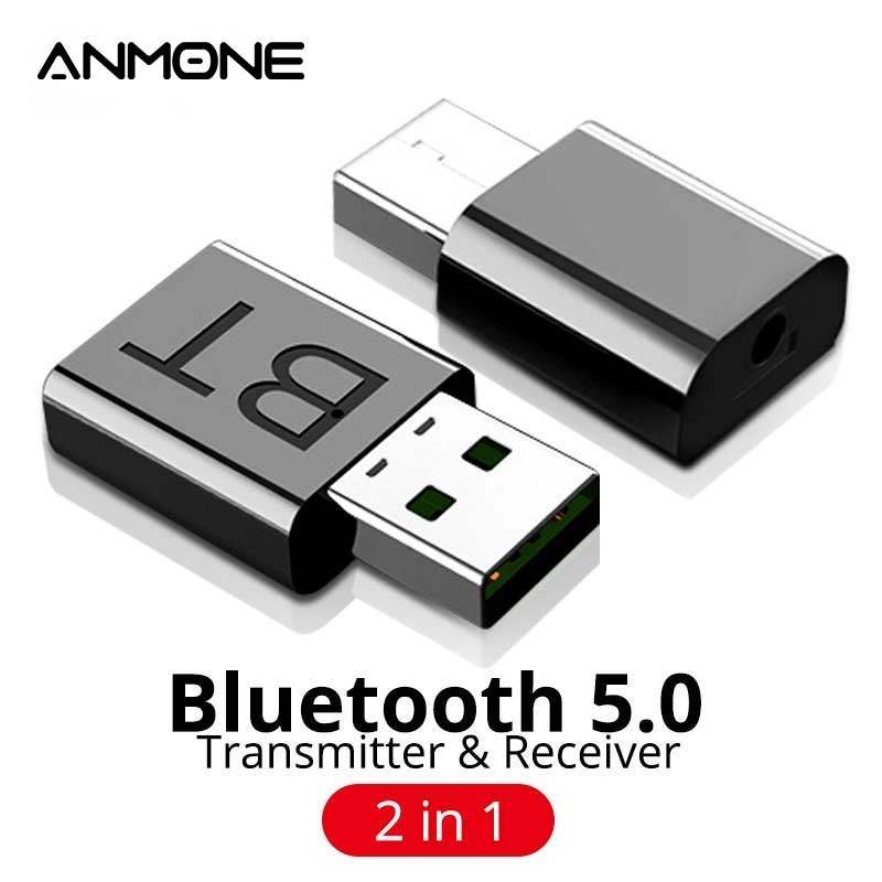 ANMONE USB Bluetooth 5.0 Audio Receiver Transmitter Mini Stereo Bluetooth Adapter For TV PC Car Kit Wireless Adaptador Bluetooth