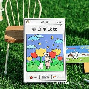30 Vellen Daydreamer Serie Postcard Diy Handgeschilderde Aquarel Jongen En Meisje Wenskaarten Boodschap Kaart(China)