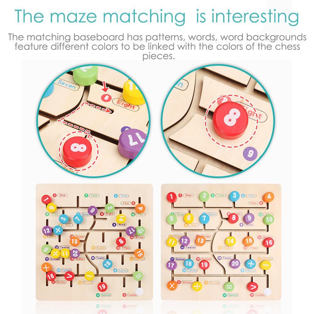 Детский лабиринт ABC Алфавит игра для малышей деревянная головоломка Обучающие Игрушки для раннего развития деятельности стимулирует