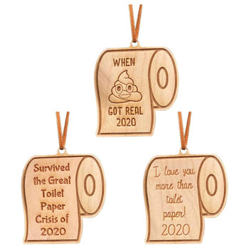 Ornament Pendant Home Gift New Paper Year Toilet Christmas Quarantine 2020 image