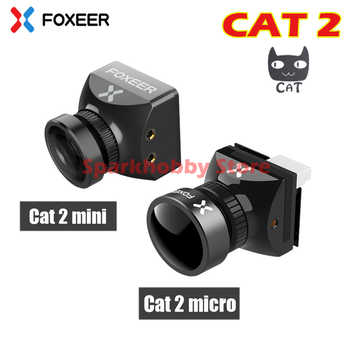 Foxeer Cat 2 Cat2/Mini/Micro vuelo de noche 1200TVL StarLight Cámara FPV 0.0001lux 1/3 Sensor 16:9 4:3 P/N conmutable para FPV
