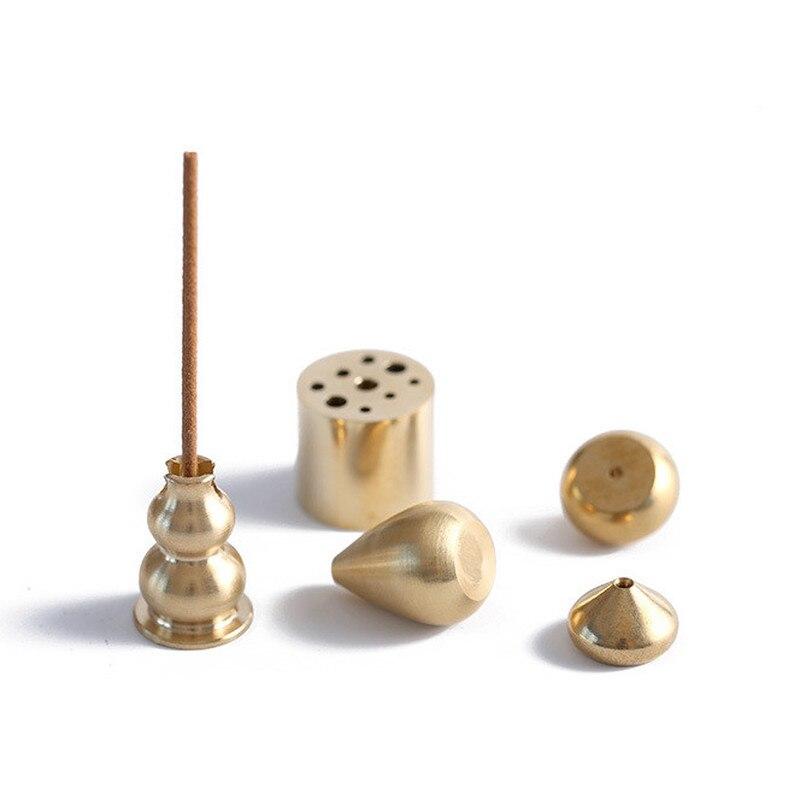 Alta qualidade latão queimador de incenso bobina garrafa cabaça em forma cobre suporte incenso aromaterapia censer decoração para casa ornamentos