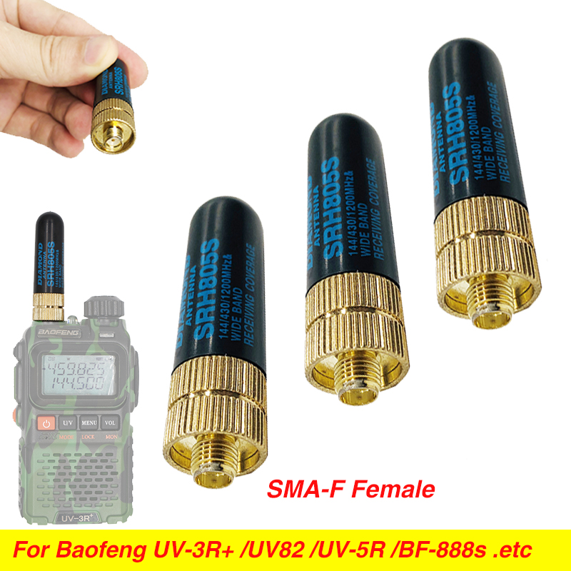 SRH805S SMA-F Female Antenna Dual Band UHF VHF 10W High Gain Antenna For Baofeng Uv-5r BF-888s UV-82 UV-5RA UV82 Hp UV-3R Plus