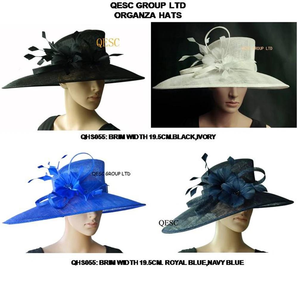 Sun Chapeaux Pour Mariage Fête Feuille Femmes Kentucky Derby Church Chapeau large bord été