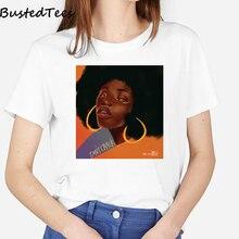 Nuevo Modelo de camiseta Vintage para mujer, ropa de verano cómoda para mujer, camiseta en blanco para niña, camiseta de talla grande