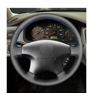 Image 2 - أسود بولي Artificial الجلود الاصطناعية سيارة غطاء عجلة القيادة لهوندا أكورد 6 1998 2002 أوديسي 1998 2001 أكورا CL 1998 2003 MDX