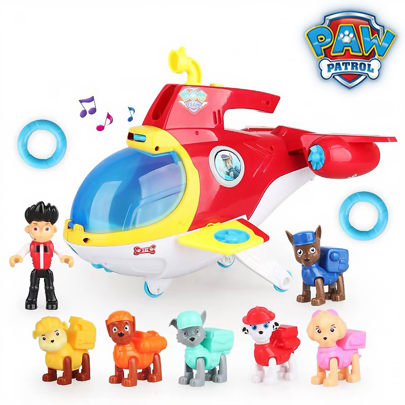 Paw Patrol Bus Lookout Tower Rescue Aircraft Action Figures Patrulla Canina Paw Patrol Toys Set For Children Christmas Gifts