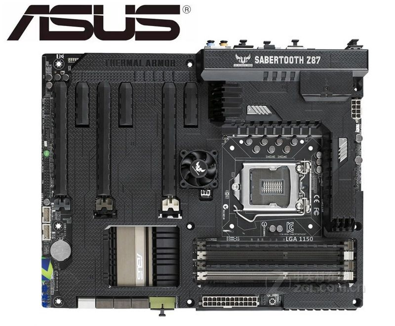 ASUS SABERTOOTH Z87 Original Motherboard For  DDR3 LGA 1150 USB2.0 USB3.0 Boards 32GB Z87 USED Desktop Motherborad