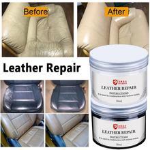 Автомобильный набор для ремонта жидкой кожи, паста, авто сиденье, диван, покрытие, царапины, трещины, полировка, краска, белый, коричневый, че...