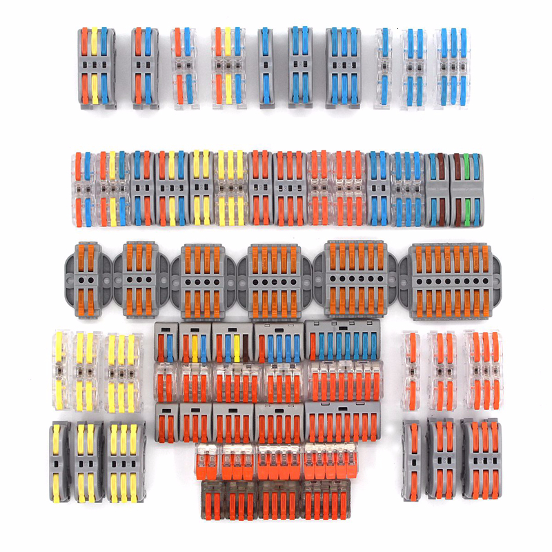 Wire Connectors 222 212 213 Mini Quick Connector Universal Compact Fast Wiring Led Strip Cable Conectors Push-in Terminal Block