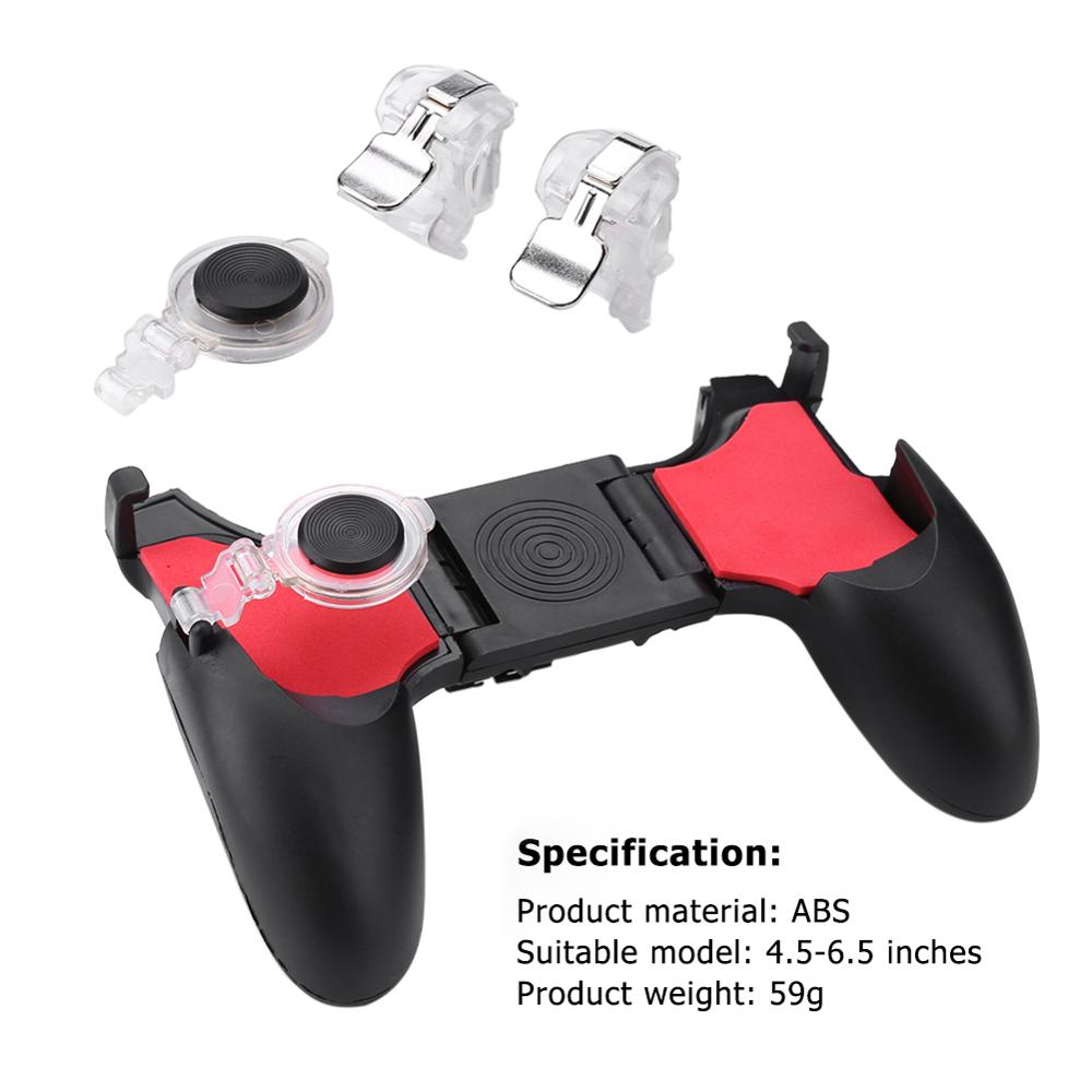 5 in 1 PUBG Moible Controller Gamepad Free Fire L1 R1 Triggers PUGB Mobile Game Pad Grip L1R1 Joystick for iPhone Android Phone image