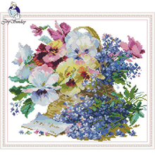 Joy Sunday,Flowers,cross stitch embroidery kit,Needlework counted cross-stitch patterns,Flower pattern cross stitch kit joy sunday wine cross stitch embroidery set cross stitch pattern needlework counted cross stitch patterns chinese cross stitch