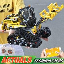 Функция двигателя приложение дистанционного управления техник автомобиль совместим с Legoing 42094 гусеничный погрузчик дети строительные блоки Модель автомобиля игрушки