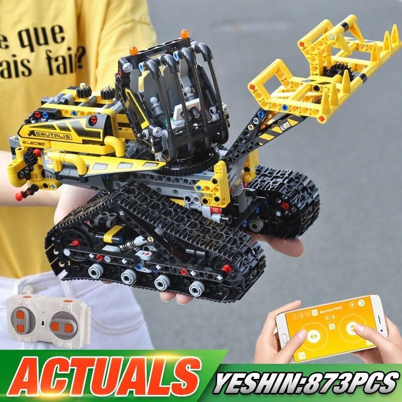 Moteur fonction APP télécommande technique voiture Compatible avec 42094 ensemble de chargeur sur chenilles enfants blocs de construction voiture modèle jouets
