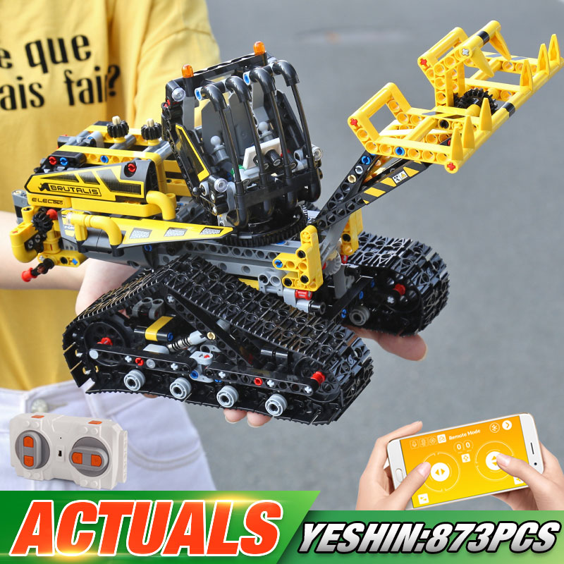 Motor Function APP Remote Control Technic Car Compatible With 42094 Tracked Loader Set Kids Building Blocks Car Model Toys