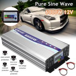 Pure Sine Wave Power Inverter 12V To AC 220V 3000W/4000W/5000W/6000W Intelligent Screen Voltage transformer Inverter