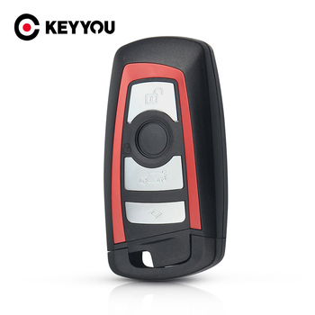 KEYYOU 3/4 Button For BMW CAS4 F 3 5 7 Series E90 E92 E93 X5 F10 F20 F30 F40 Key Case Cover Smart Remote Car Key Shell Fob image
