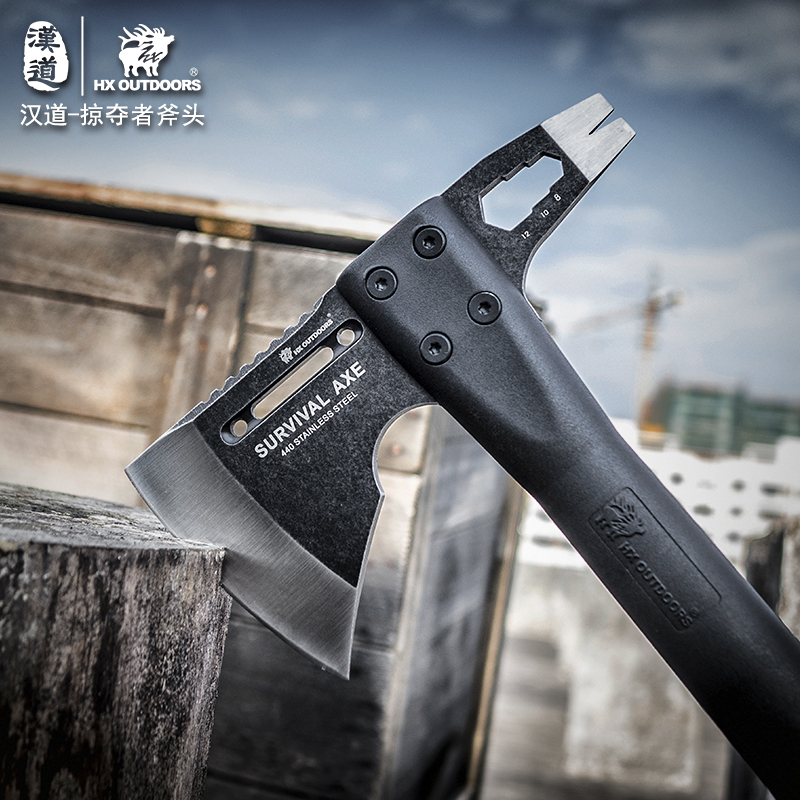 HX OUTDOORS Outdoor Tactical Survival Axe, Camp <font><b>Axes</b></font> Mountain Camping <font><b>tool</b></font> hand Hunting <font><b>Tools</b></font> Kitchen ,Dropshipping image