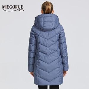 Image 4 - MIEGOFCE مجموعة شتاء 2019 للنساء معطف سترة دافئة للنساء عدة ألوان غير عادية منحنى سحاب يعطي نموذج نمط خاص