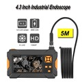 1080P HD 8 мм промышленный эндоскоп 4 3 дюймов Авто Ремонт инспекции Камера эндоскоп литий Батарея 1/3/5 м змея Tuble Камера