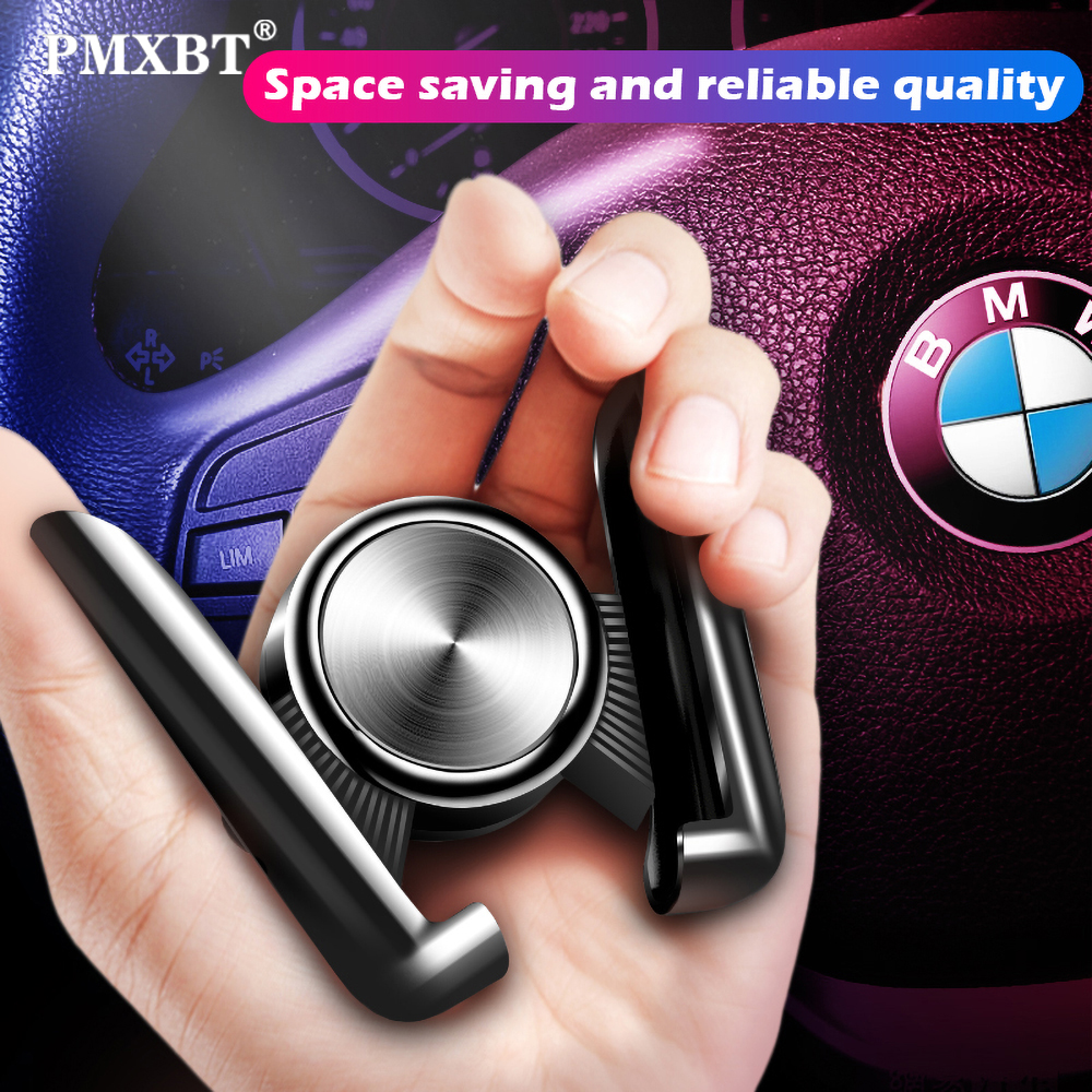 Car Phone Holder Smartphone Mount in Car Air Vent Gravity Auto Clip Grip For iPhone X Samsung Stand Cell Phone Bracket Accessory