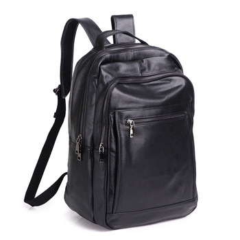 100% Cow Genuine Leather Men Backpacks Real Natural Leather Student Backpack Boy Luxury Brand Large Fashion Computer Laptop Bag