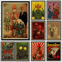 Classic Cartoon Dorohedoro Vintage Pictures Kids Room Bedroom Decoracion Painting Wall Art Music TV Posters and Print Wall Decor