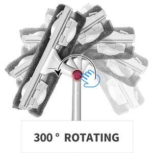 Image 5 - GUANYAO Lange Griff reinigung pinsel Fenster Reiniger Glas Rakel Teleskop stange rotierenden kopf Mit reinigung tuch Gummi wischer