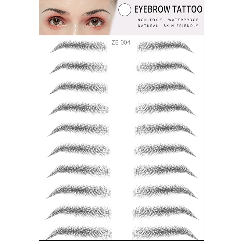 6D Hair Like Authentic Eyebrows 6D Imitation Ecological Eyebrows Eyebrow Tattoo Sticker Water-based Brow Stickers False Eyebrows