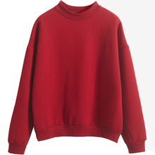 Women Kintted Autumn Simple Casual Sweatshirt O-Ncek Casual Pullovers Spring Long Sleeve Loose Solid Outwear Tops Size S-XXL