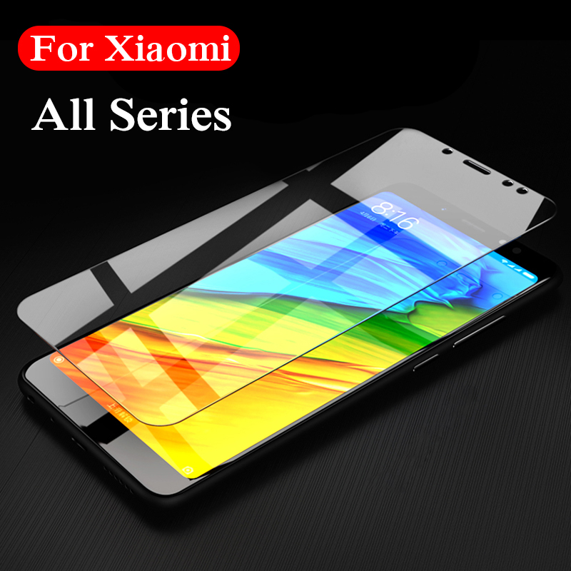 Glass on for xiaomi redmi note 5a 6a 5 pro plus 4x 4a ksiomi mi a2 lite tempered glas protective film a5 a6 a4 xiomi xaomi 2.5d