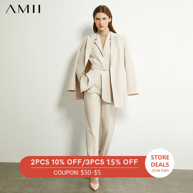Повседневный женский костюм AMII офис, офисный костюм для женщин 1