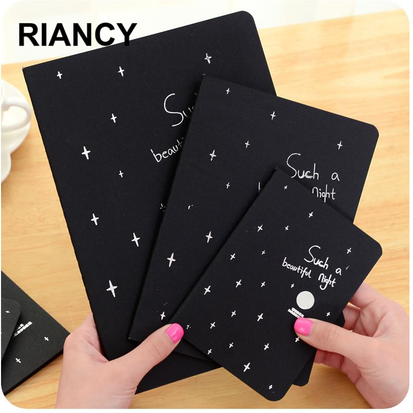 1pc Black Paper Sketchbook Bullet Journal Cute Notebook Paper Weekly Planner Accessories Stationery Diary Agenda Travel 01630