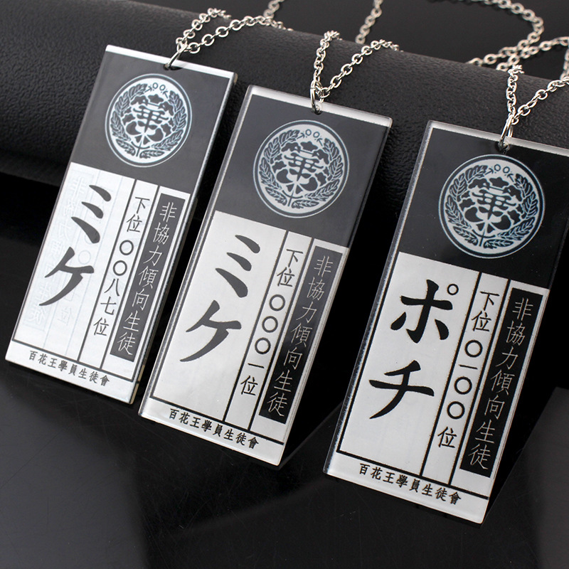 Аниме Kakegurui Jabami Yumeko идентификационная карточка для скота Ожерелье косплей реквизит аксессуары
