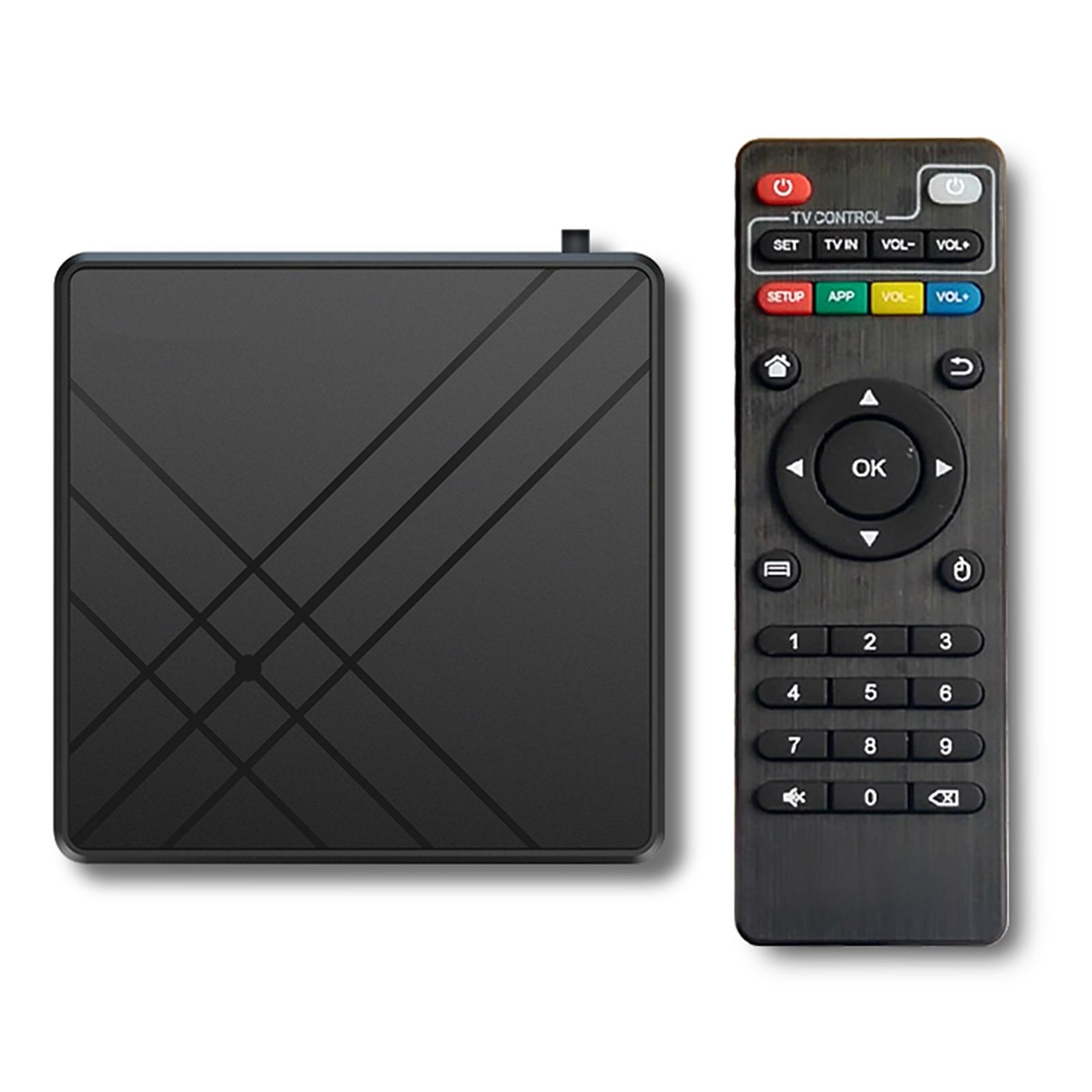 Para android 9.0 caixa de tv 4gb ram 32gb rom smart tv conjunto superior caixa amlogic s905 mx + s qpro 4k casa equipamento de vídeo de áudio