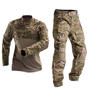 Military Uniform Tactical Combat Shirt Us Army Clothing Tatico Tops Airsoft Multicam Camouflage Hunting FishingPants Elbow/Knee
