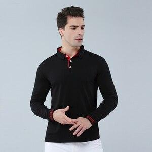 Image 2 - High Quality Men Polo Shirt Fall Long Sleeve Solid Large Size Top Fall Polos Shirt Fashion Popular Casual Couple clothing Custom