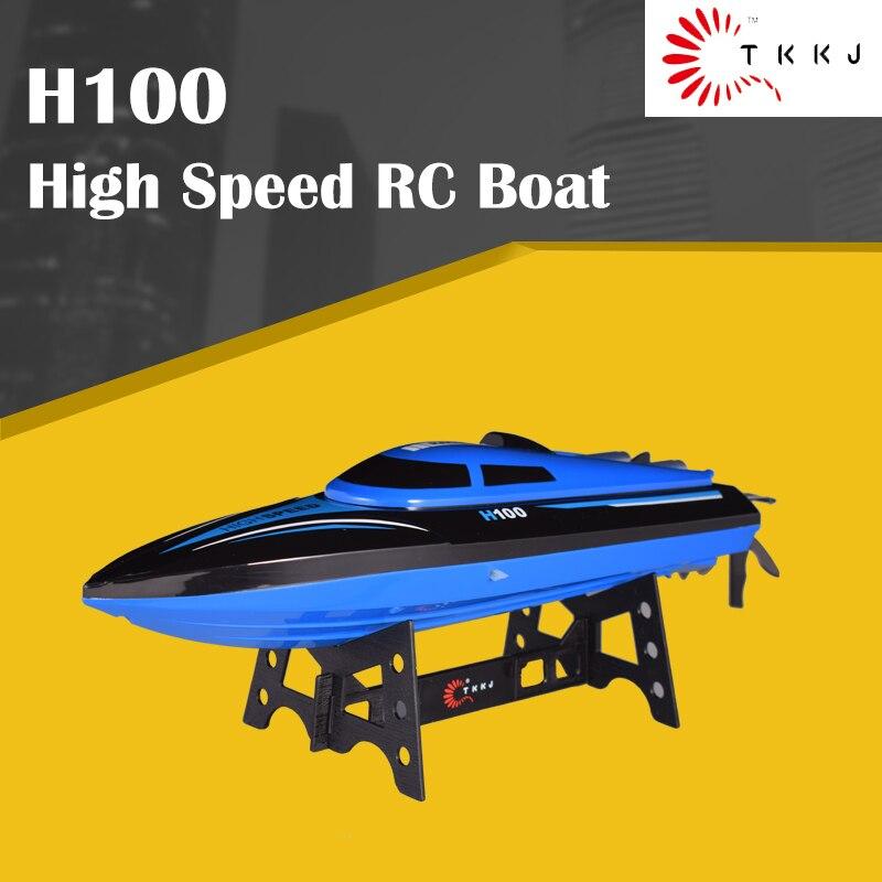 TKKJ bateau RC haute vitesse H100 1:36 2.4G 4CH 20 km/h course bateau télécommandé avec écran LCD pour enfants jouets enfants cadeau