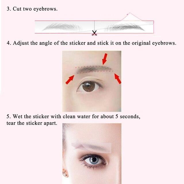 NEW Magic 3D Hair-like Eyebrow Tattoo Stickers False Eyebrows Waterproof Lasting Makeup Water-based Eye Brow Stickers Cosmetics